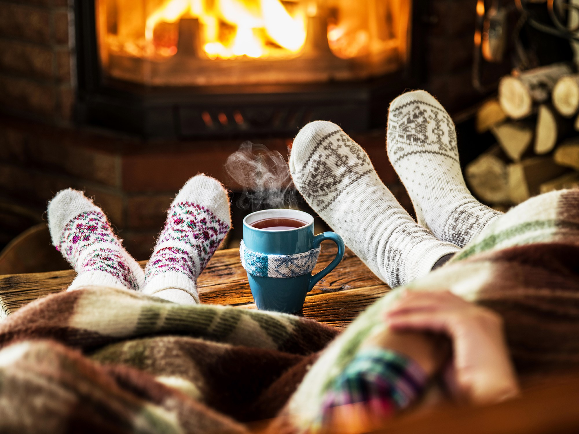 hygge people getting cozy